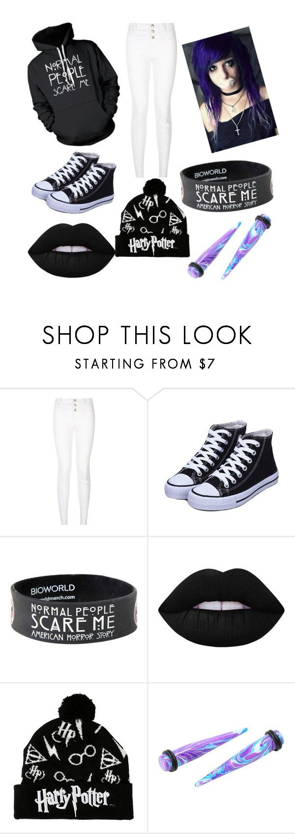 """""""random"""" by mikkibear09 ❤ liked on Polyvore featuring New Look, Hot Topic and Lime Crime"""