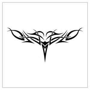 Simple Tribal Lower Back Tattoo Designs