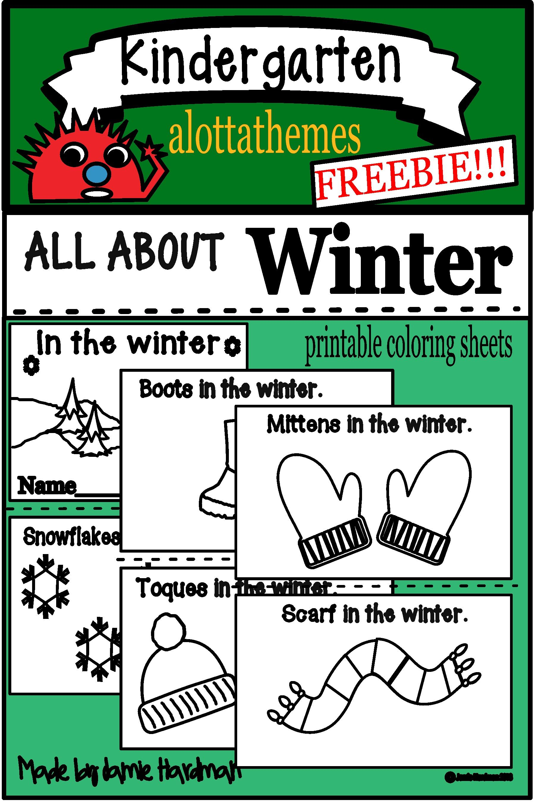 Freebie Literacy Centers For Kindergarten