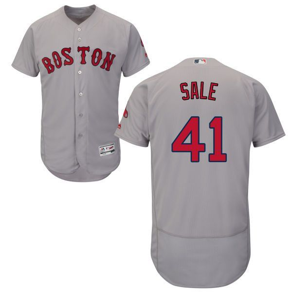 premium selection a9763 51fa4 Chris Sale Boston Red Sox Major League baseball Grey Jersey ...
