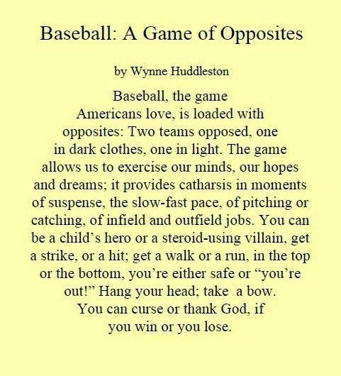 Image Result For Baseball Free Verse Poems Baseball Pinterest