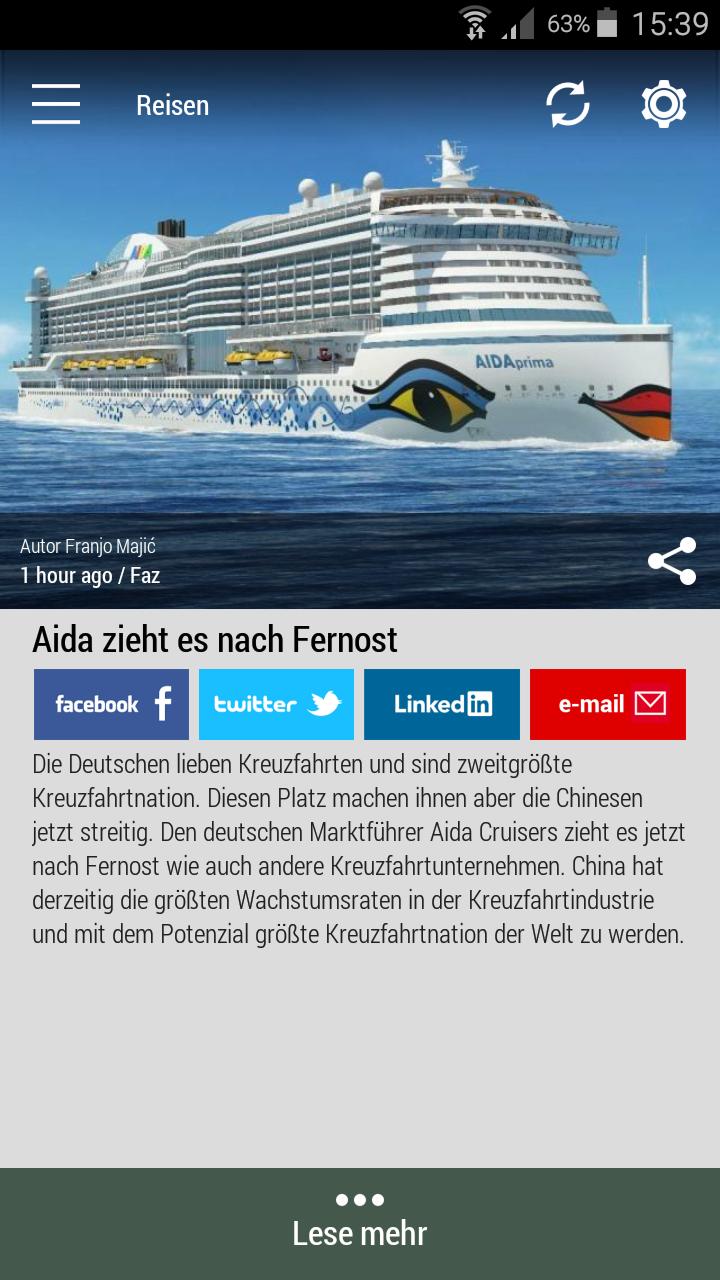 #Born2Invest: die besten Geschäfts- und Finanznachrichten aus den vertrauenswürdigen Quellen. Jetzt unsere kostenlose Android App herunterladen. #aidacruisers #cruise #cruisenation #tourism