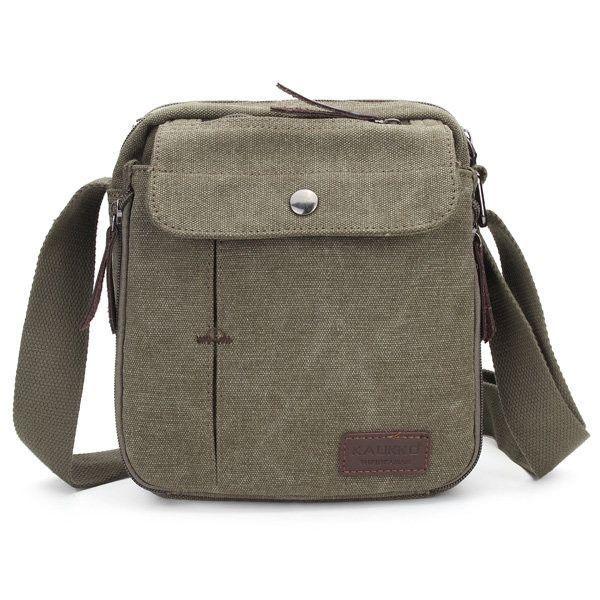 87c5b8f97b8ea KAUKKO Men Vintage Canvas Multifunctional Crossbody Bag Casual Retro  Outdoor Shoulder Bag