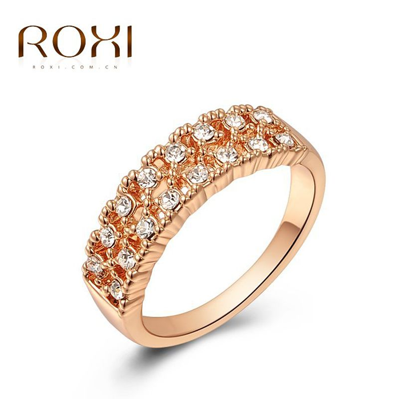 ROXI Ring For Women Gift Retro Love Rings Rose Gold Plated Rings