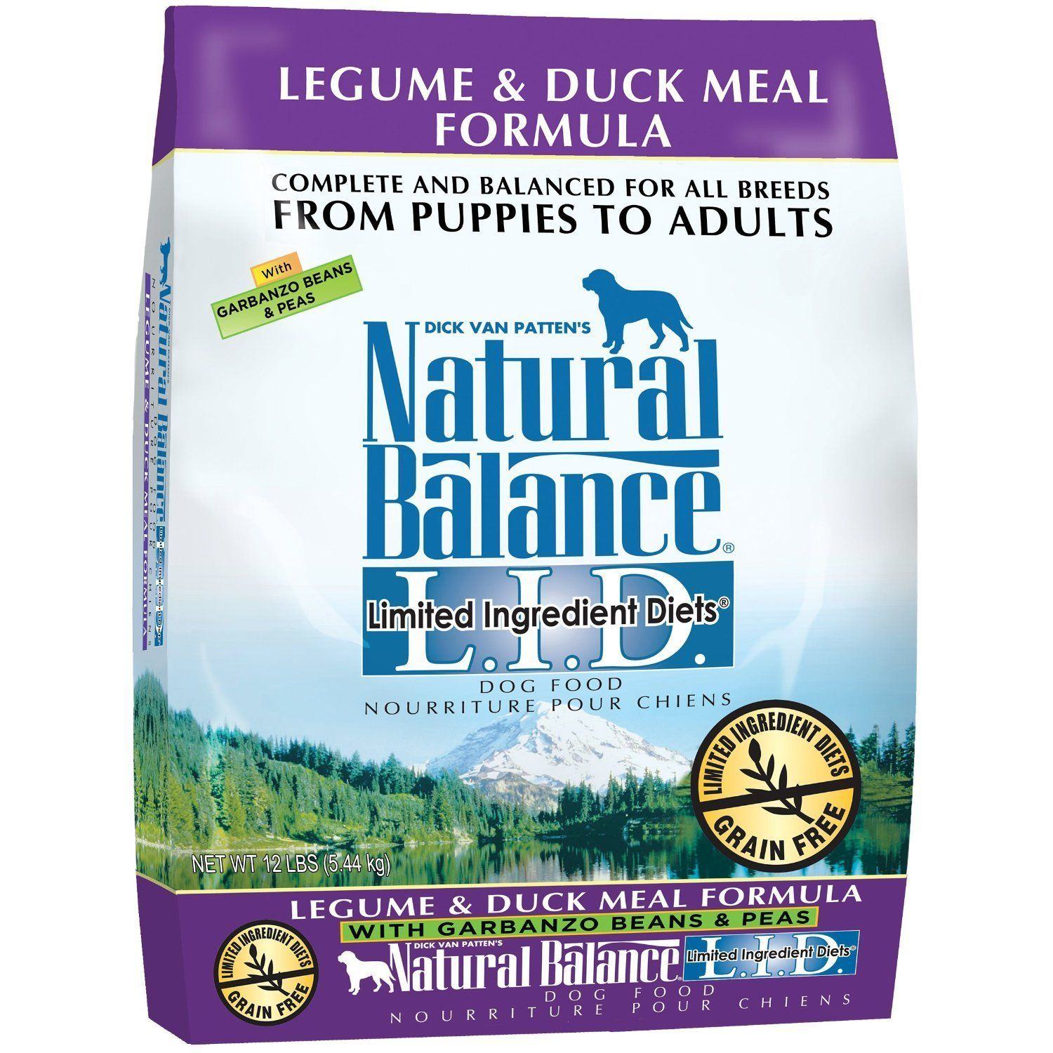 Natural Balance Limited Ingredient Diets Legume and Duck