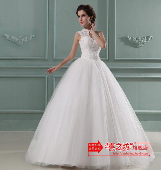 1960s-Vintage-Turtleneck-Wedding dress www.xishibridal.com ...