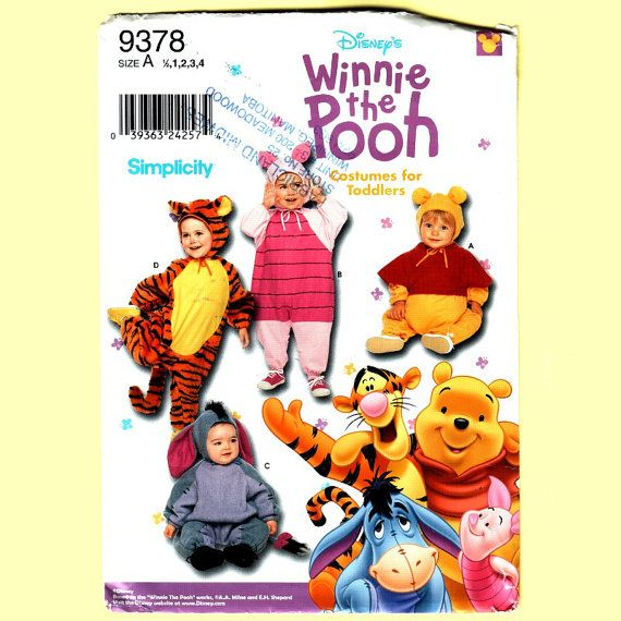 Disney Winnie the Pooh Costume Pattern Tigger by VogueVixens, $6.50