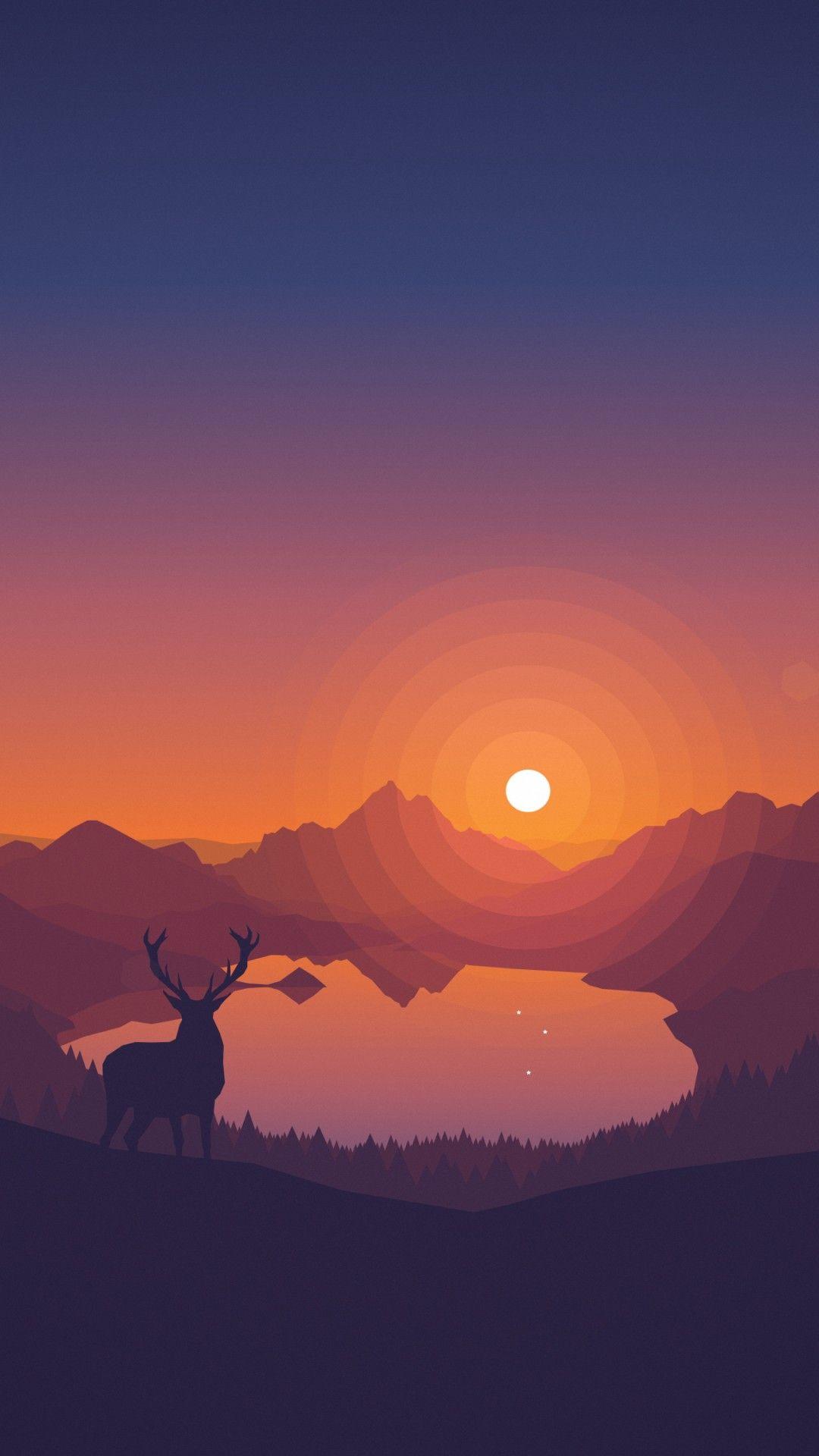 Misc Lakeview Sunset 4k Wallpapers Red Dead Redemption Art Minimalist Wallpaper Deer Wallpaper
