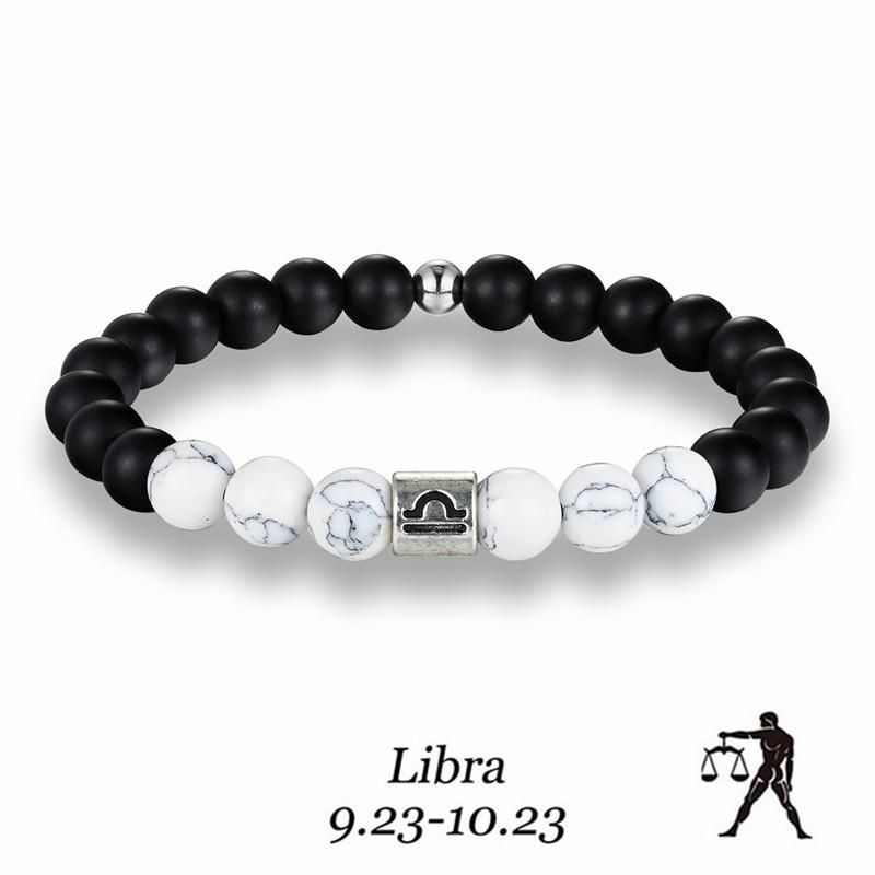 Aries Birthday Gift Choice of Astrology Sign and Crystal Color in stainless steel Zodiac Bracelet Horoscope Jewelry