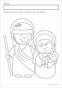 Christmas Nativity Preschool No Prep Worksheets Activities