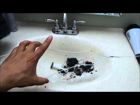 How To Unclog A Bathroom Sink (Cleaning The Stopper) - YouTube