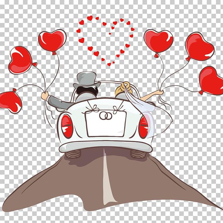Ilustracja Mlodej Pary Zaproszenie Na Slub Pana Mlodego Samochod Kreskowka Png Clipart Wedding Invitations Wedding Shadow Box Beautiful Stickers
