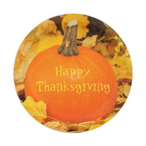 Happy Thanksgiving big orange pumpkin outdoors Paper Plate  sc 1 st  Pinterest & Happy Thanksgiving big orange pumpkin outdoors Paper Plate ...