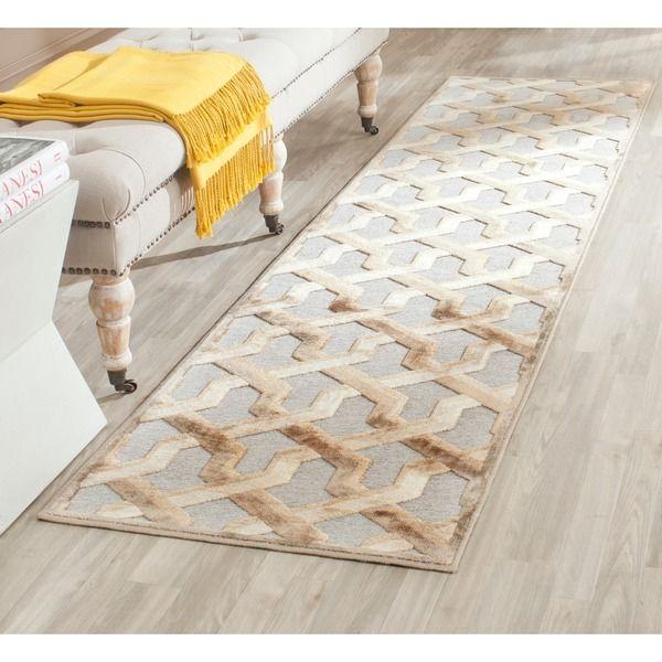 safavieh paradise mouse viscose rug (2'2 x 8') by safavieh | rugs