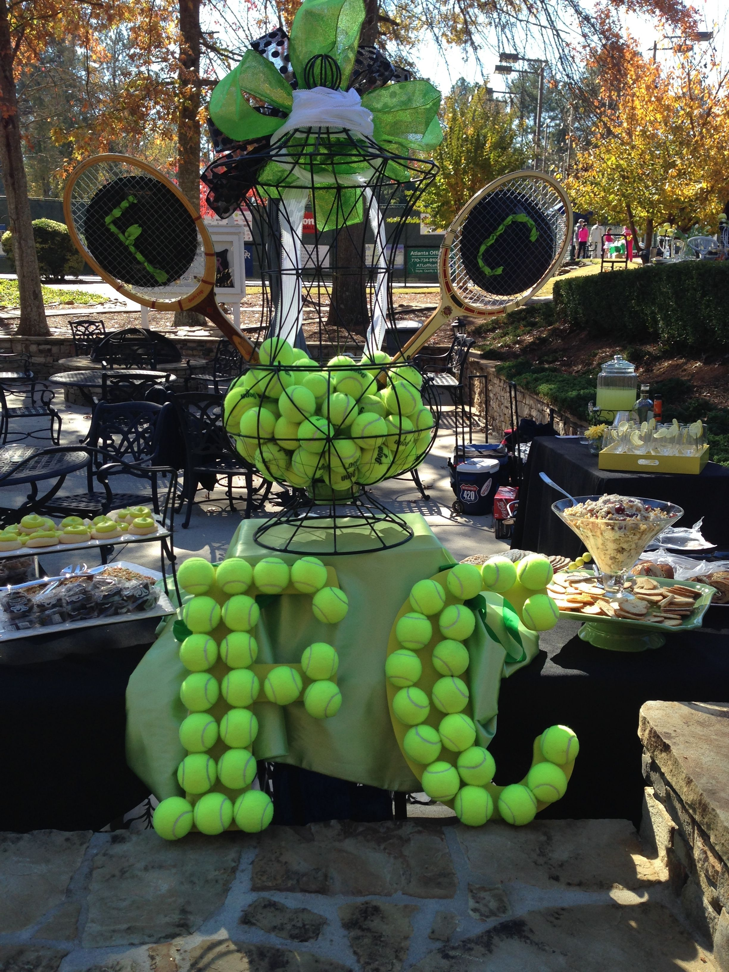 Tennis Centerpiece Tennis Themed Party Ideas Pinterest