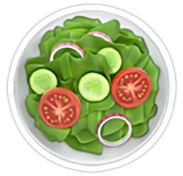 Salad Emoji Sticker By Nerdychick Grilled Chicken Salad Emoji