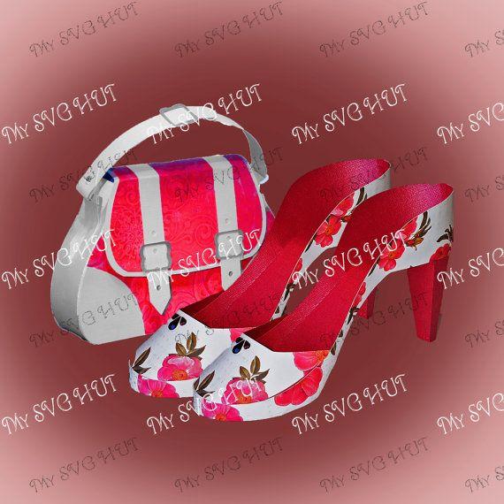 High Heel Shoe and Bag set  DIGITAL download