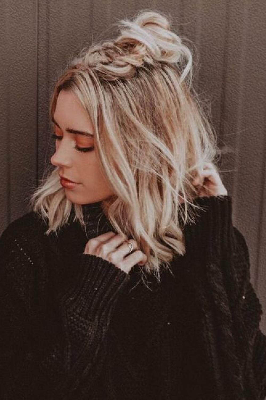 De última generación peinados media melena con trenzas Fotos de estilo de color de pelo - semirecogidos media melena trenza de raíz. Trenza de raíz ...