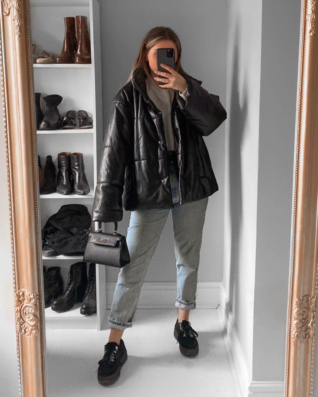 By Fashioninflux Winter Coats Puffer Jacket Style Leather Puffer Jacket Winter Fashion Outfits [ 1349 x 1080 Pixel ]