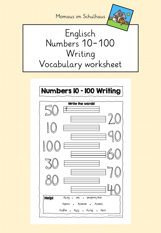 Numbers 20 200 Worksheet writing – Unterrichtsmaterial im Fach ...