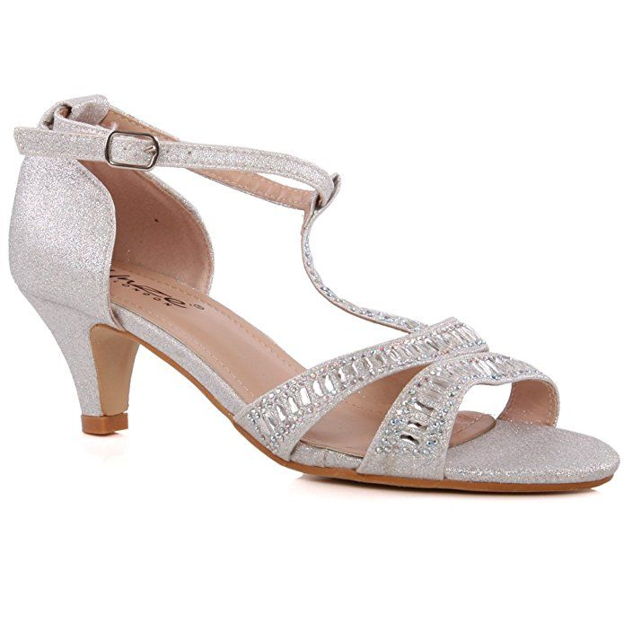 WOMENS LADIES POINTY TOE COURT SHOES EVENING PARTY DIAMANTE SANDALS SIZE 3-8