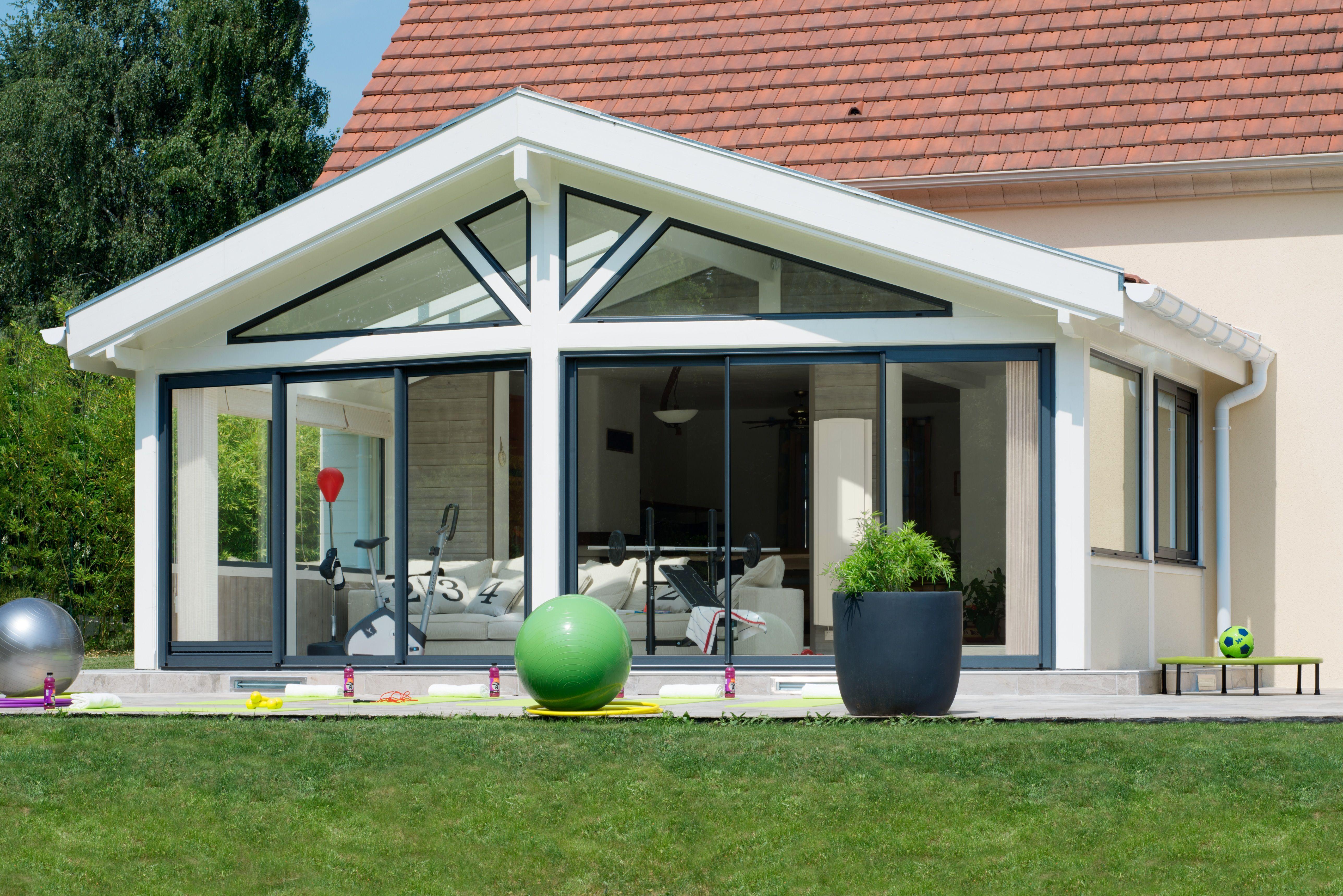 Espace de sport et bien-être à domicile de VIE & VERANDA   Agrandissement maison, Veranda et ...