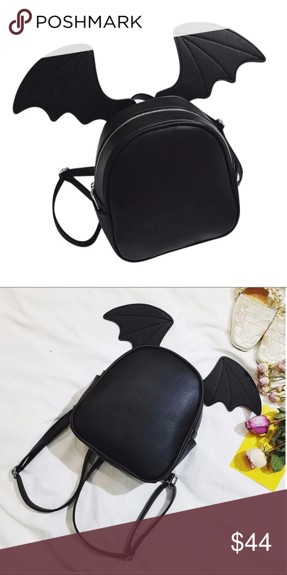 Small Black Cat Bat Bunny Ears Backpack Boutique