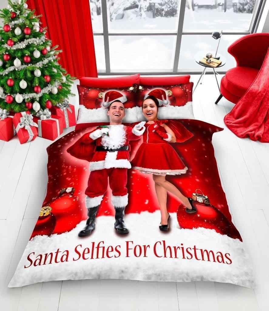 GC New Xmas Duvet Set,Santa Selfie//Elf//Selfies for Xmas Duvet Cover,Bed Set