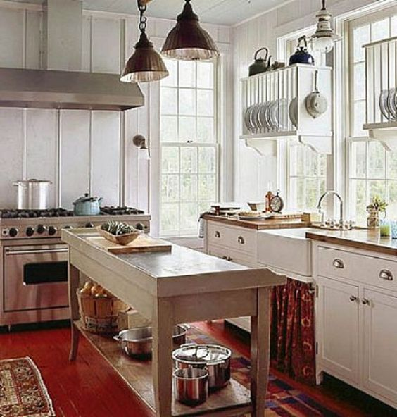found on bing from pinterest com cottage kitchen design small farmhouse kitchen country on farmhouse kitchen small id=22177