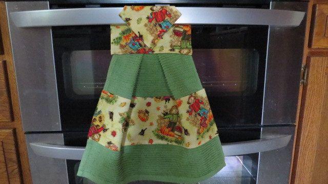 Kitchen Towel, Hanging Dish Towel, Tie Towel,Hanging Tea Towel, Hanging Hand