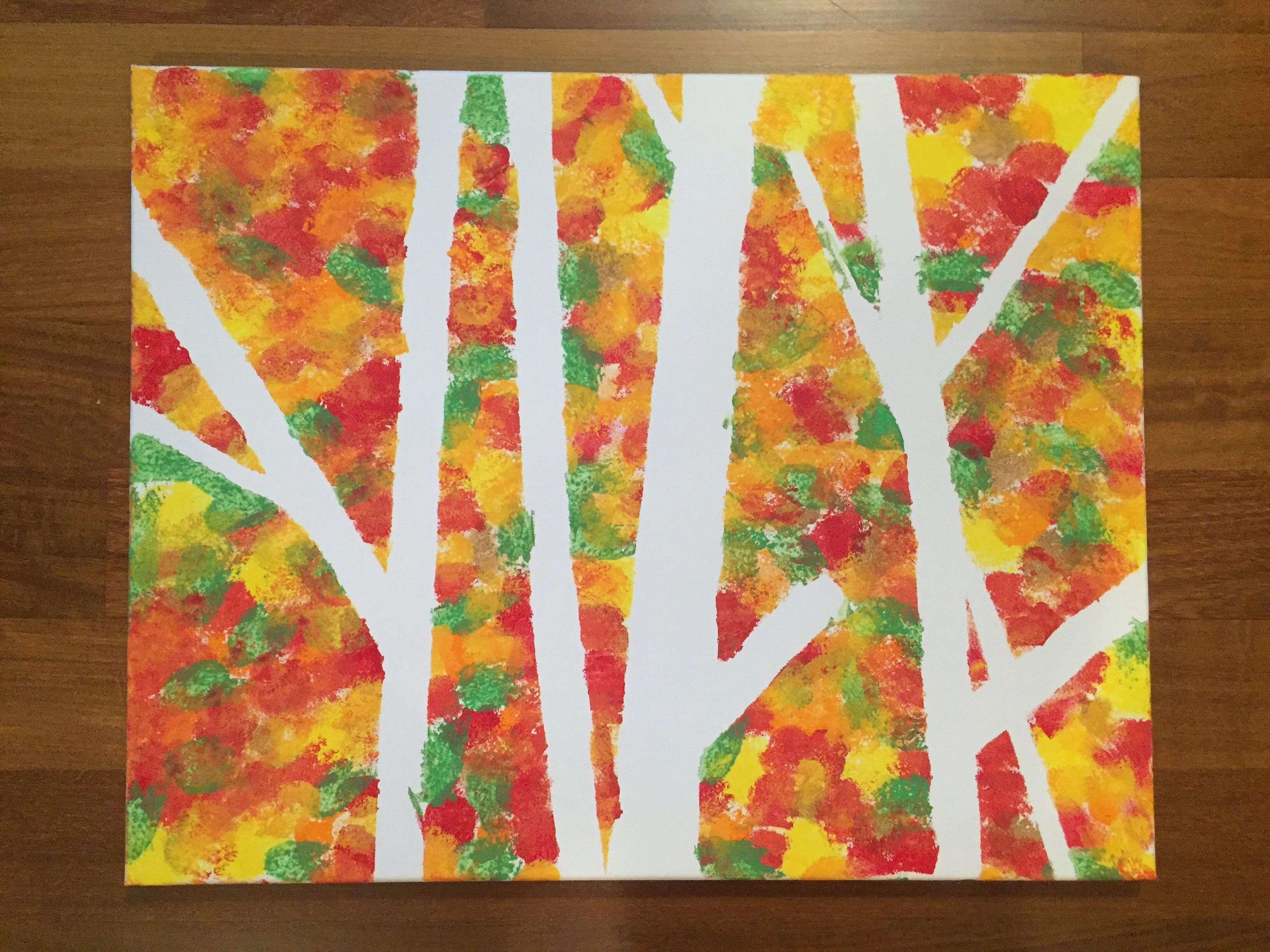 Kids Fall Painting Project