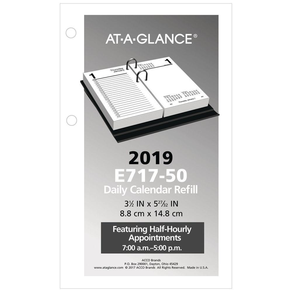At A Glance 2019 Daily Desk Calendar Refill 3 1 2 X 6 Loose Leaf E71750 Ataglance Calendar Refills Daily Desk Calendar Desk Calendars