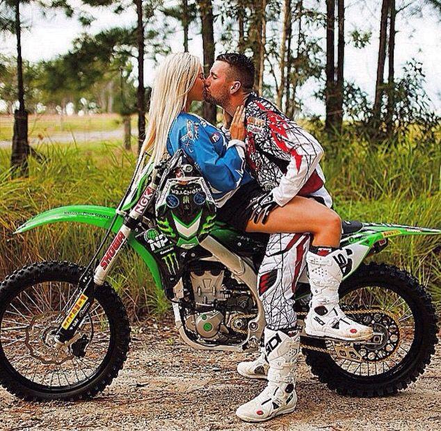 Pin By Brittney Fiorita On Dirt Bikes Motocross Love Motocross Couple Motocross Girls
