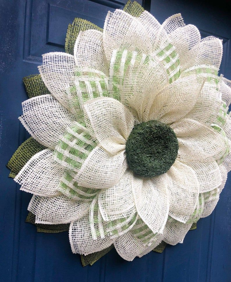 Photo of Sunflower Wreath for Front Door, Sunflower Wreath, Wreath Alternative, Front Door Decor, Summer Wreath