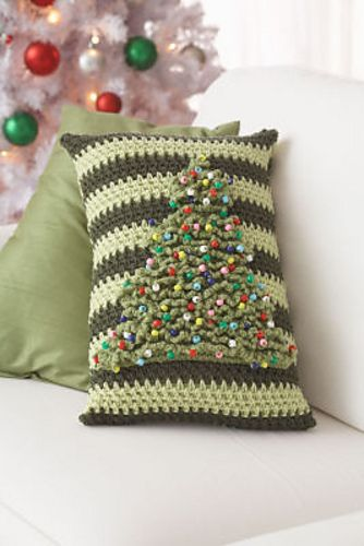 Ho Ho Holiday Tree Pillow Christmas Crochet Patterns Christmas Crochet Crochet Xmas