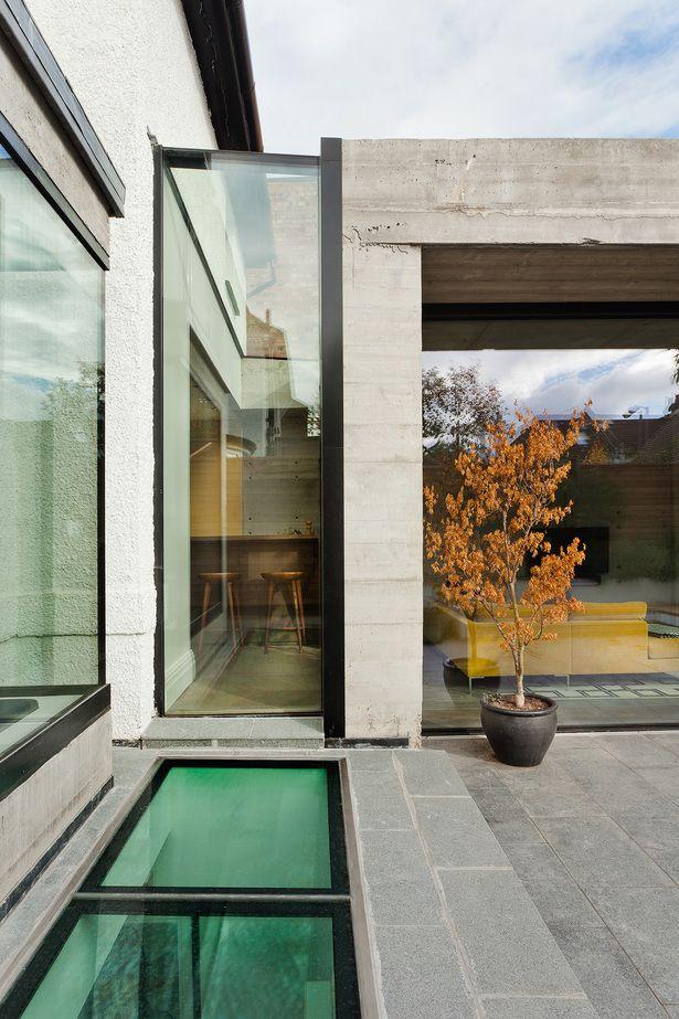 double concrete house glass pinterest concrete houses, house