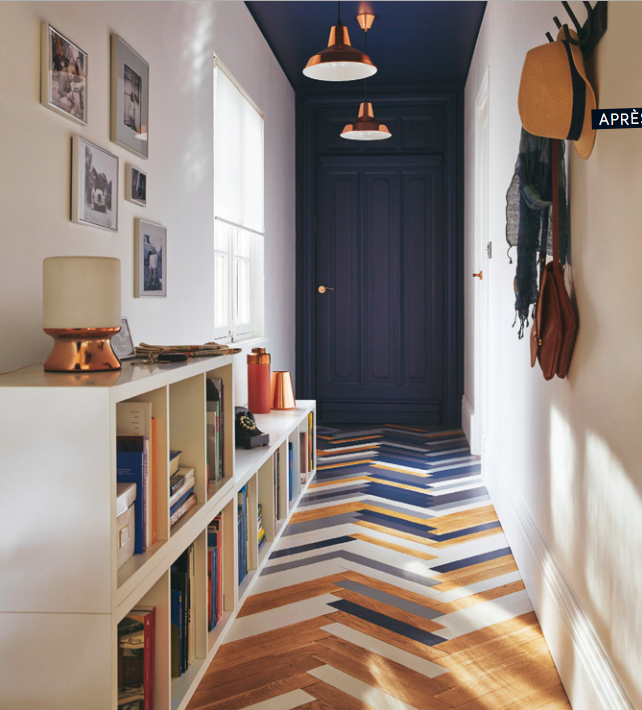hall d 39 entr e avec peinture dulux bleu stone home deco home decor house design colored. Black Bedroom Furniture Sets. Home Design Ideas