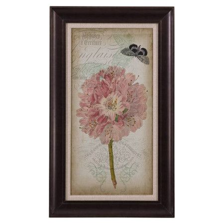 Equally at home in an artful collage or on its own as an eye-catching focal point, this lovely framed print showcases a vintage-inspired floral motif for cha...