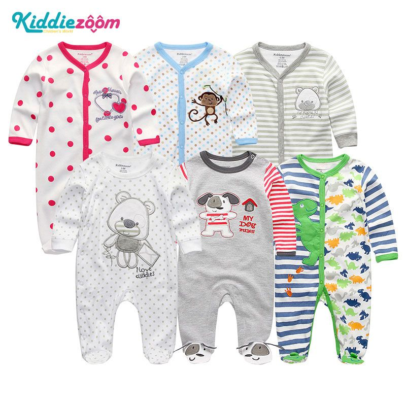 8b787d3f5647 Find More Rompers Information about Newborn Baby Girls&Boys Rompers 6Pcs/Lot  Clothing 2018 Summer Jumpsuits Costume 100%Cotton Unisex Roupas de bebe  Pajamas ...