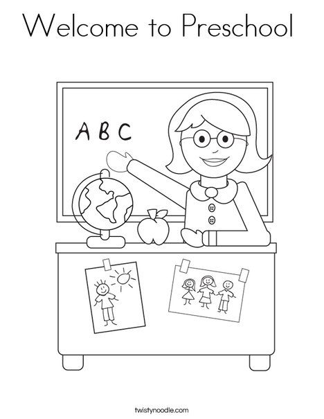 Welcome To Preschool Coloring Page Welcome To Preschool Kindergarten Coloring Pages Preschool Coloring Pages