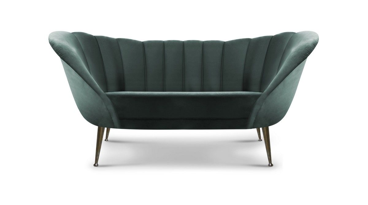 ANDES sofa can bring harmony to the most luxurious interior design ideas. A leather two seat upholstered green sofa for classic living room design ideas. #modernsofas #livingroomset #velvetsofa Discover more: https://www.brabbu.com/en/upholstery/andes-2-seat-sofa/