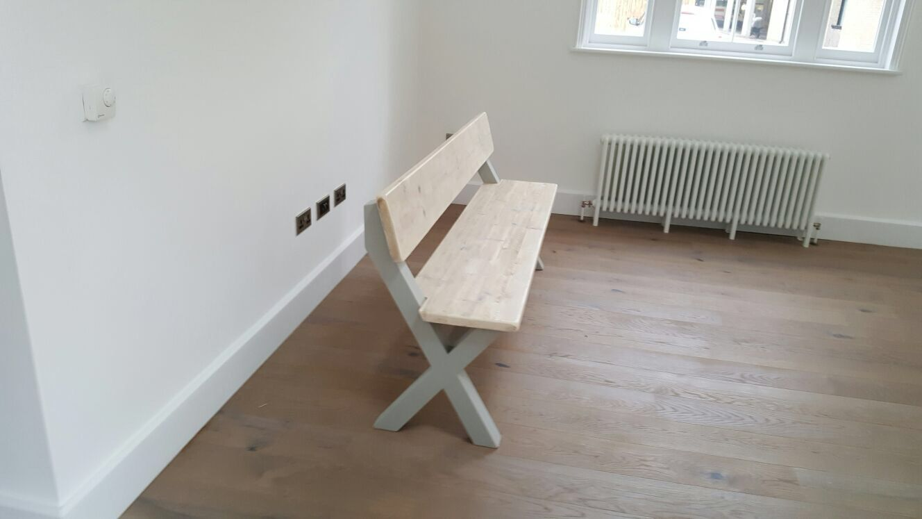 Phenomenal Cross Leg Bench With Back Lime Wash Finish Dining Area Uwap Interior Chair Design Uwaporg
