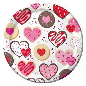 Frosted Fun Valentine's Day Paper Plates - 8 Pack : Target