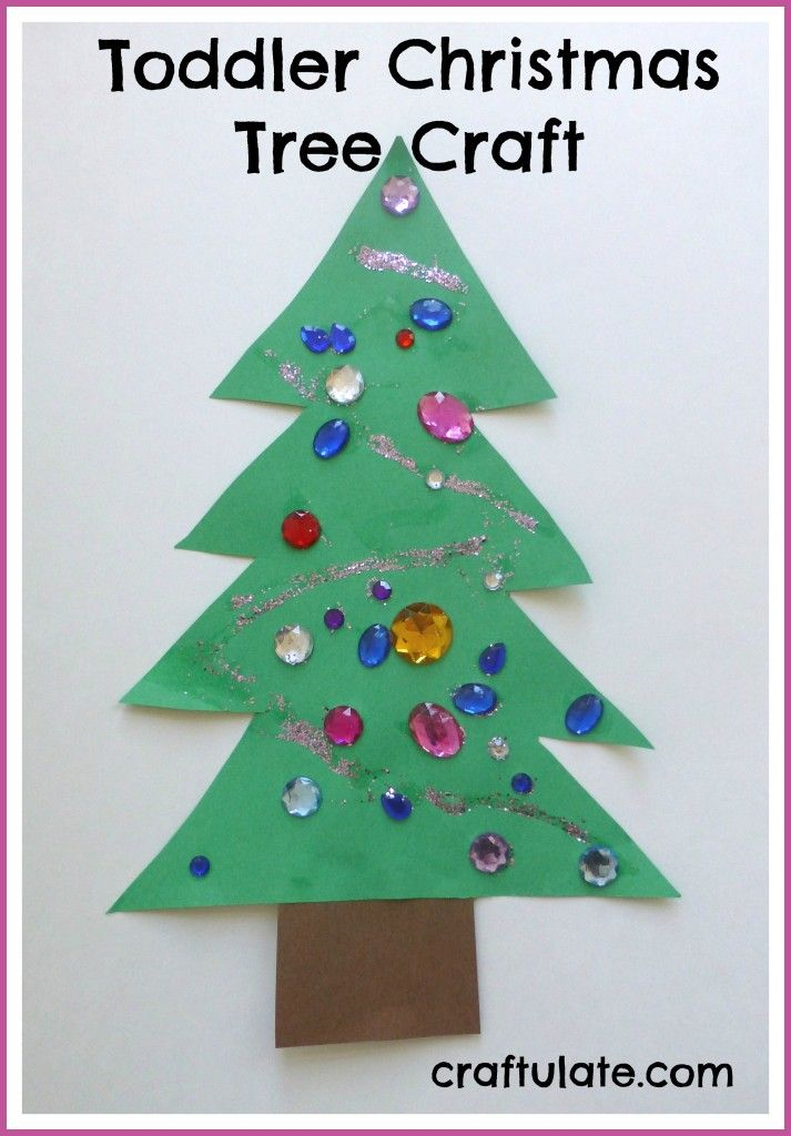 Toddler Christmas Tree Craft From Craftulate Toddler Christmas Tree Christmas Tree Crafts Christmas Preschool Theme