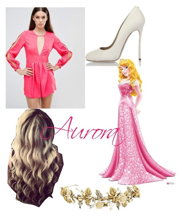 """""""Aurora"""" by kaitlyn-ashby101 ❤ liked on Polyvore featuring Disney, AX Paris and Dsquared2"""