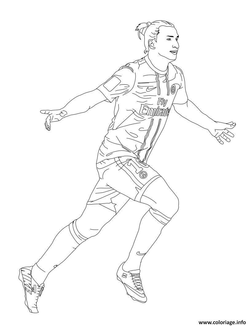 Coloriage Zlatan Ibrahimovic Psg Paris A Imprimer En 2020 Coloriage A Imprimer Coloriage Coloriage Football