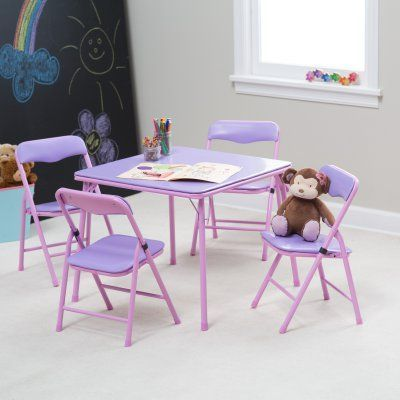 Showtime Childrens Folding Table And Chair Set Show083 2 Durable