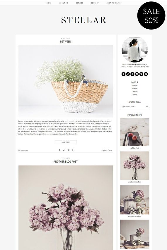 premade blogger template fashion blogger template by skyandstars