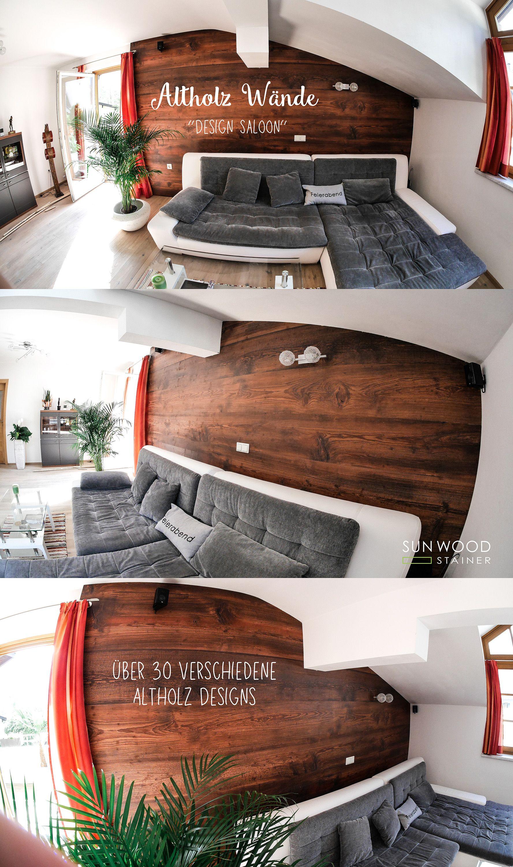 Altholz Wohnzimmerwand, Altholz Wand, Holzwand, Einrichtungsideen ...