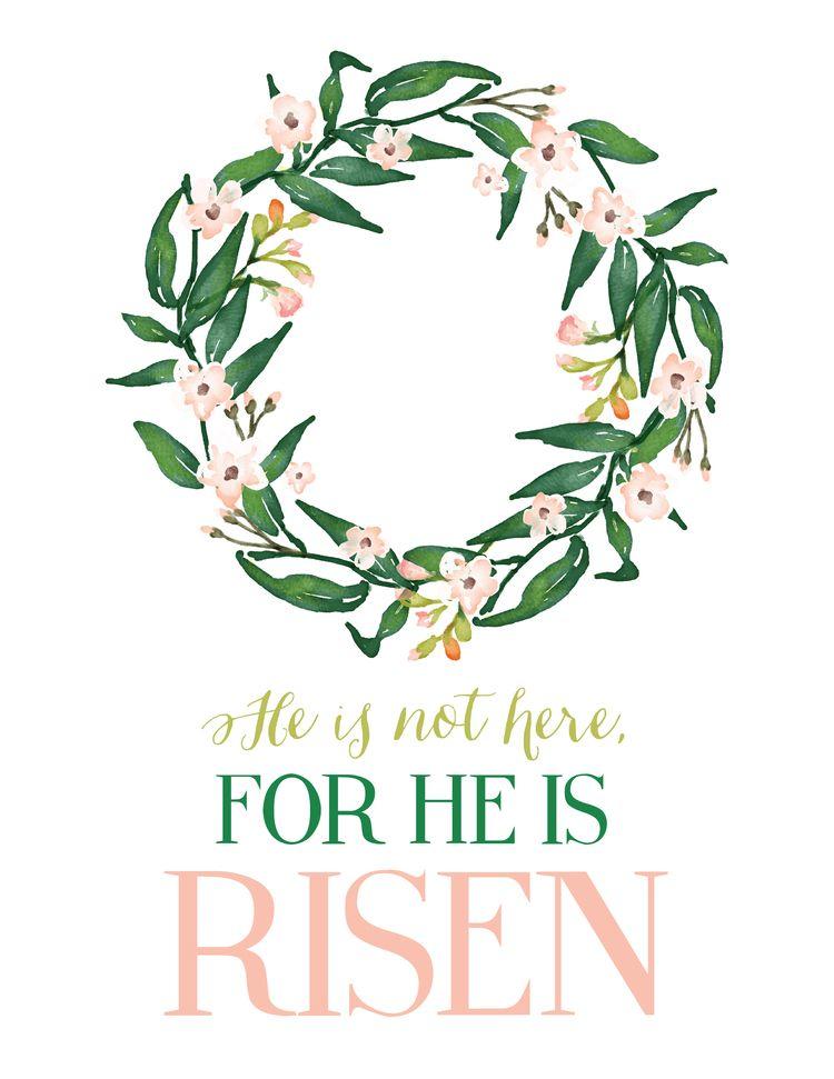 Free Easter Printable | Easter verses, Easter scriptures ... Easter Clip Art Free Sayings